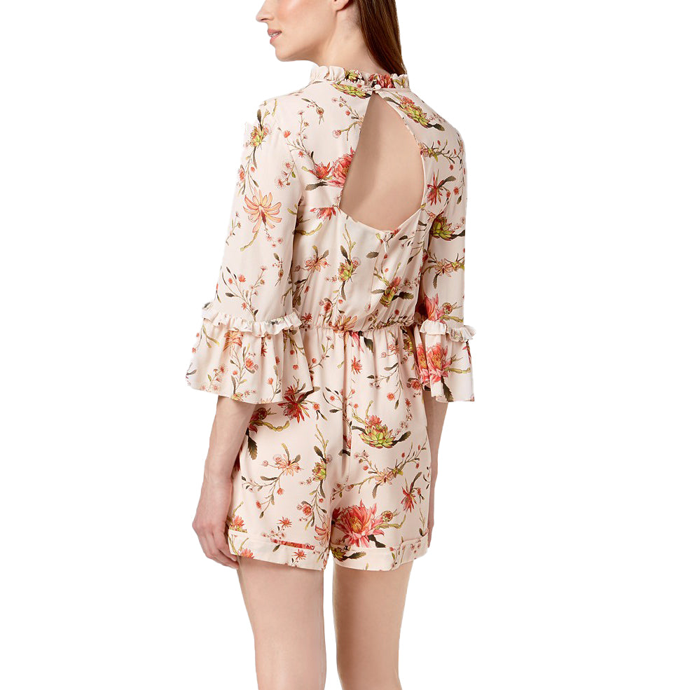 Yieldings Discount Clothing Store's Floral Romper by Rachel Zoe in Cream