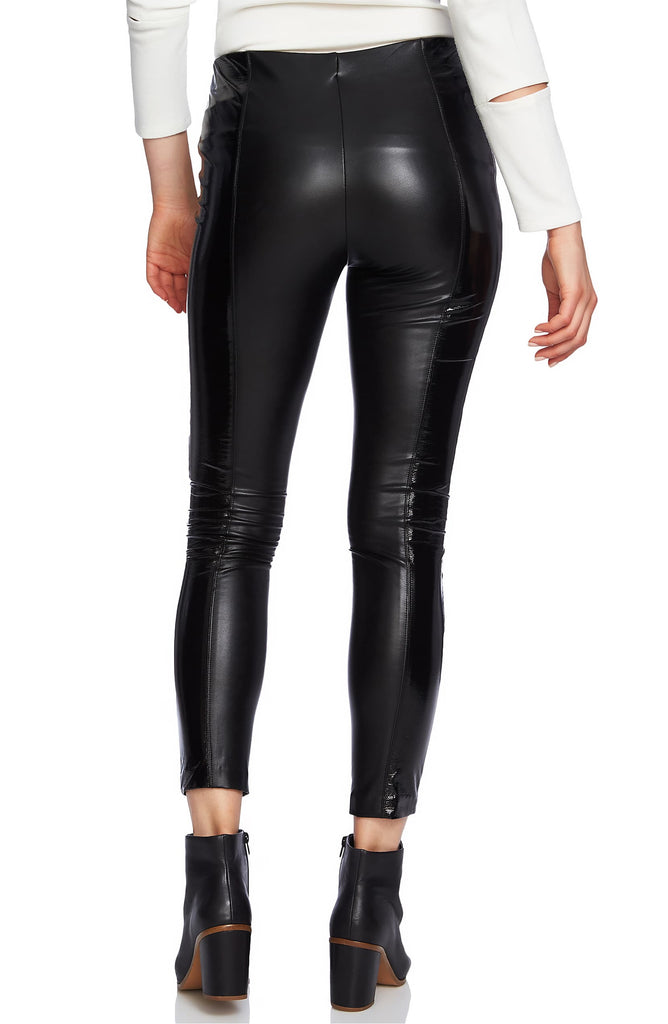 Yieldings Discount Clothing Store's Stretch Patent Leather Pants by 1.State in Rich Black