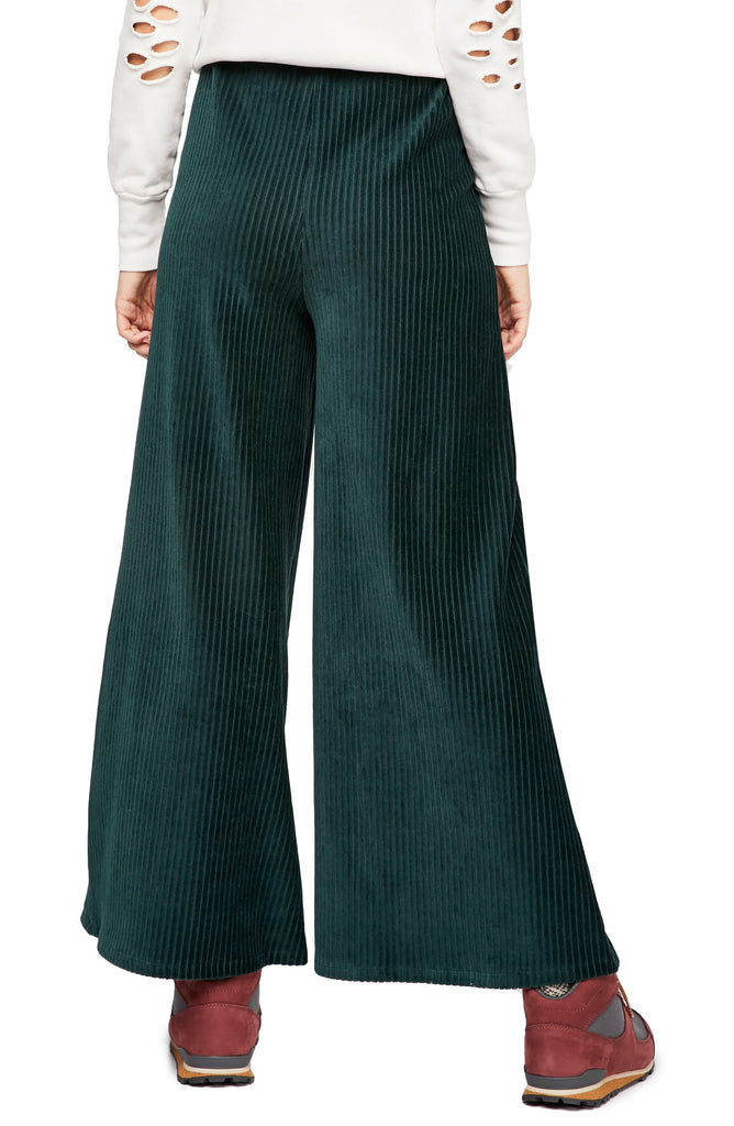 Yieldings Discount Clothing Store's Bambi Wide-Leg Pants by Free People in Green