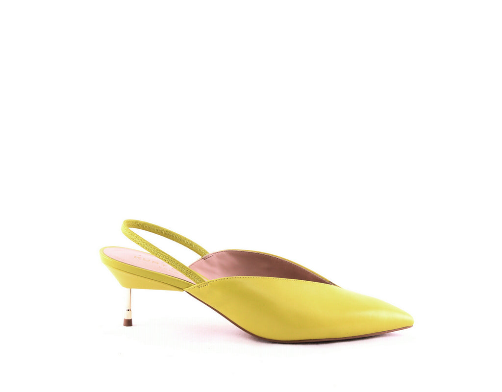 Yieldings Discount Shoes Store's Battersea Slingback Pumps by Kurt Geiger in Lime