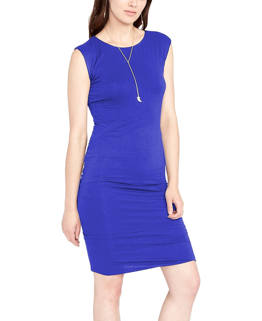 Yieldings Discount Clothing Store's May Easy Draped Dress by RACHEL Rachel Roy in Santorini Blue