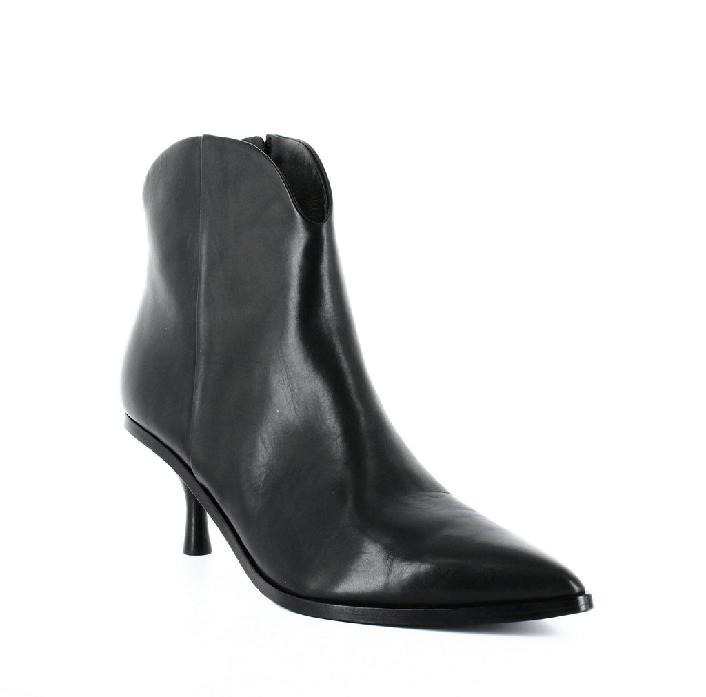 Yieldings Discount Shoes Store's Hayleigh Kitten-Heel Booties by Sigerson Morrison in Black