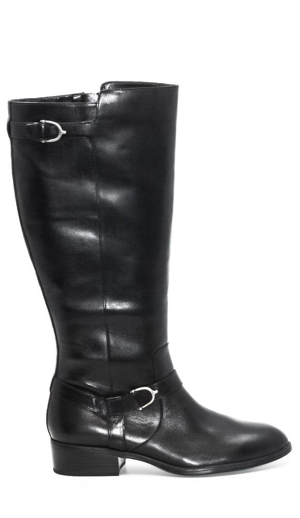 Yieldings Discount Shoes Store's Margarite Wide Calf Boots by Lauren by Ralph Lauren in Black