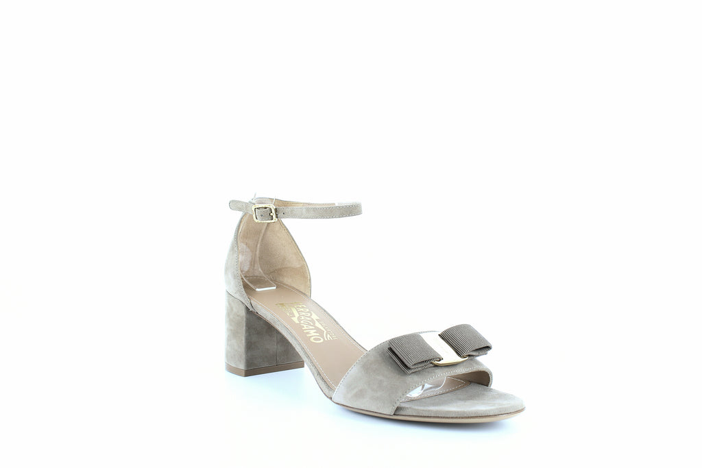 Yieldings Discount Shoes Store's Gavina Ankle Strap Sandals by Salvatore Ferragamo in Clay