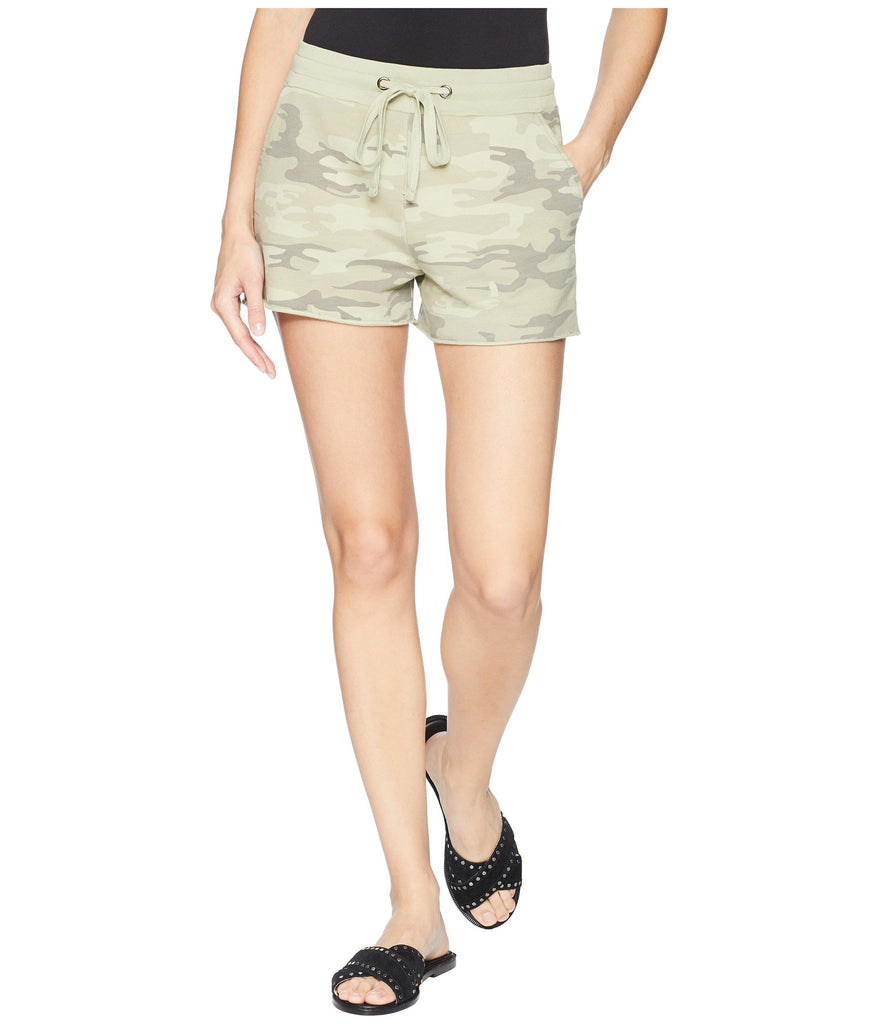 Yieldings Discount Clothing Store's Cotton Camo-Print Shorts by Sanctuary in Cadet