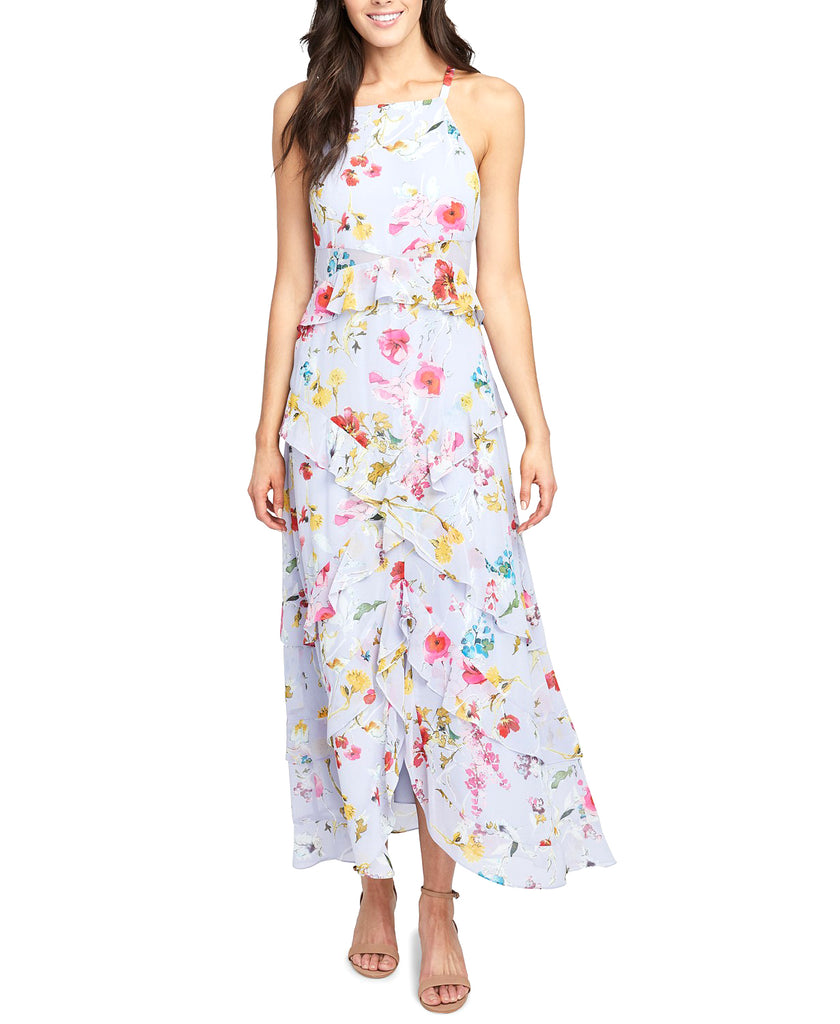 Yieldings Discount Clothing Store's May Floral Maxi Dress by RACHEL Rachel Roy in Morning Blue