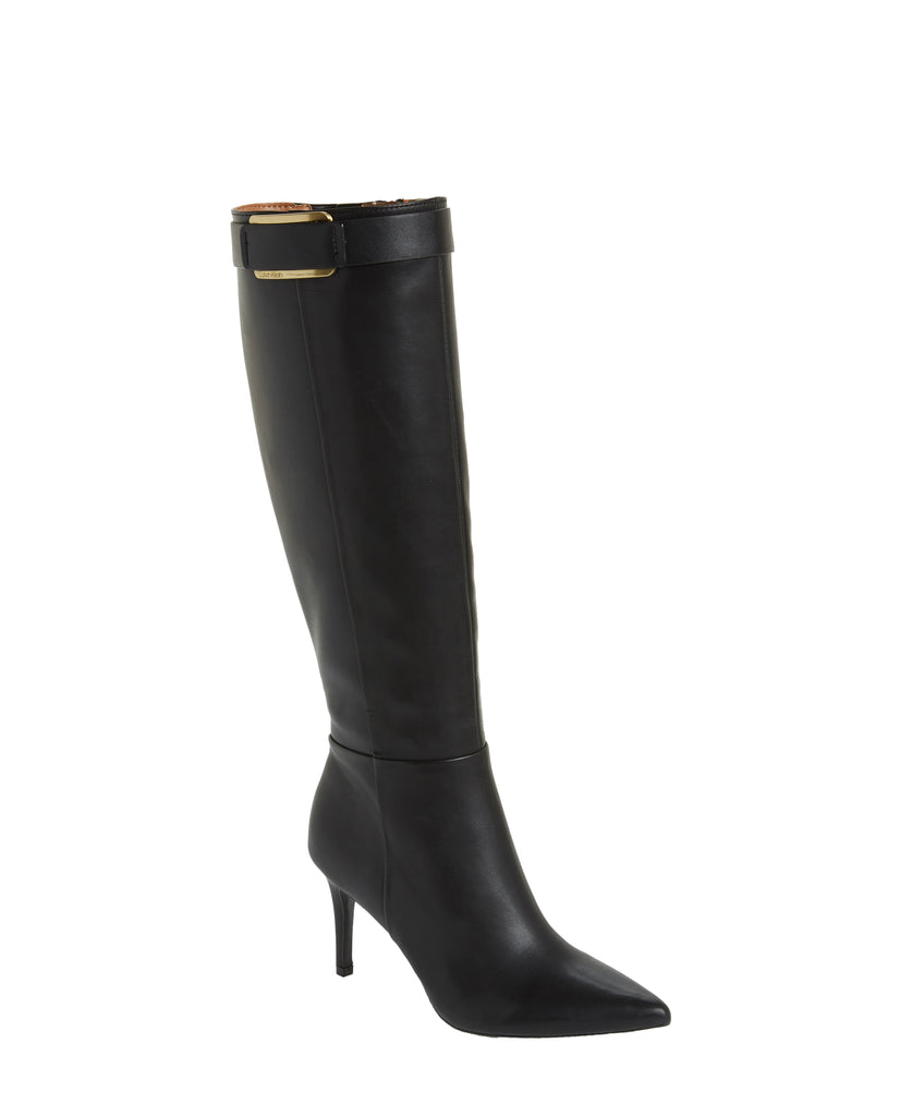 Yieldings Discount Shoes Store's Glydia Boots by Calvin Klein in Black