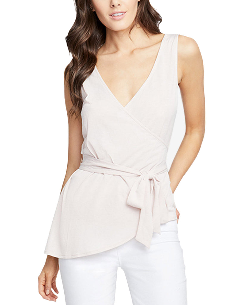 Yieldings Discount Clothing Store's July Crossover Wrap Top by RACHEL Rachel Roy in Blush