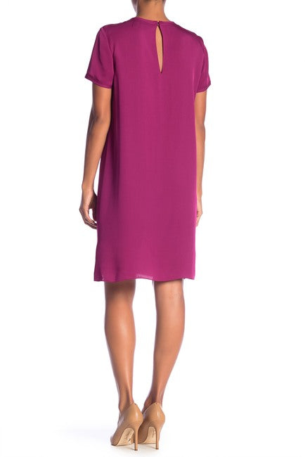 Yieldings Discount Clothing Store's Silk Tee Dress by Theory in Electric Pink