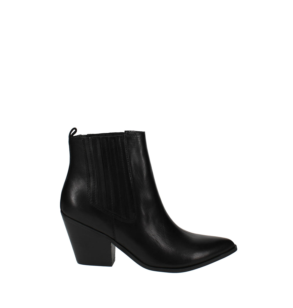 Yieldings Discount Shoes Store's Lexa Western Ankle Booties by Nine West in Black