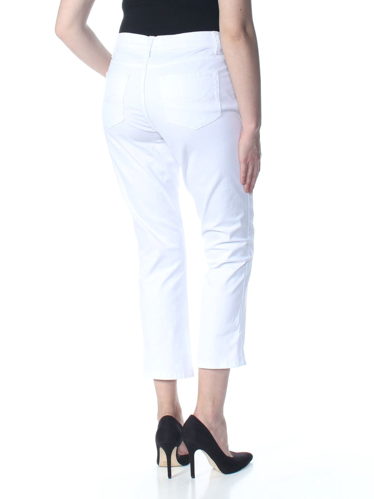 Yieldings Discount Clothing Store's Platinum Label Skinny Mid-Rise Capri Jeans by Lee in White