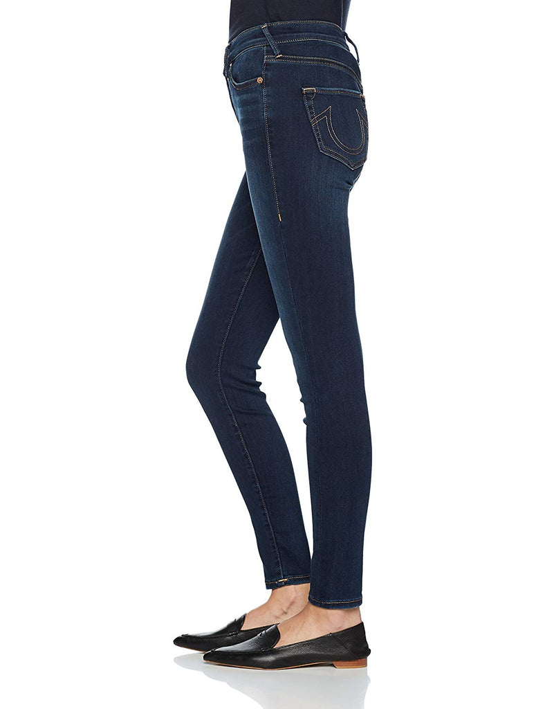 Yieldings Discount Clothing Store's Halle High Rise Skinny Jeans by True Religion in Bonafide Blue