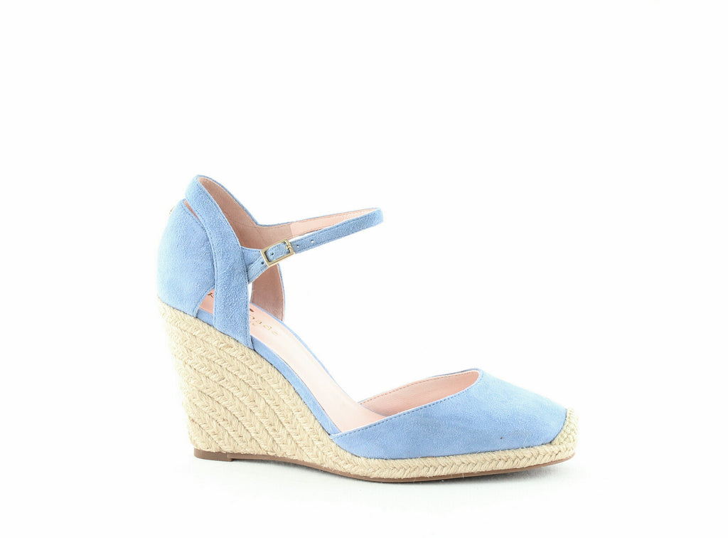 Yieldings Discount Shoes Store's Giovanna Suede Espadrille Wedge Pumps by Kate Spade in Blue Bird
