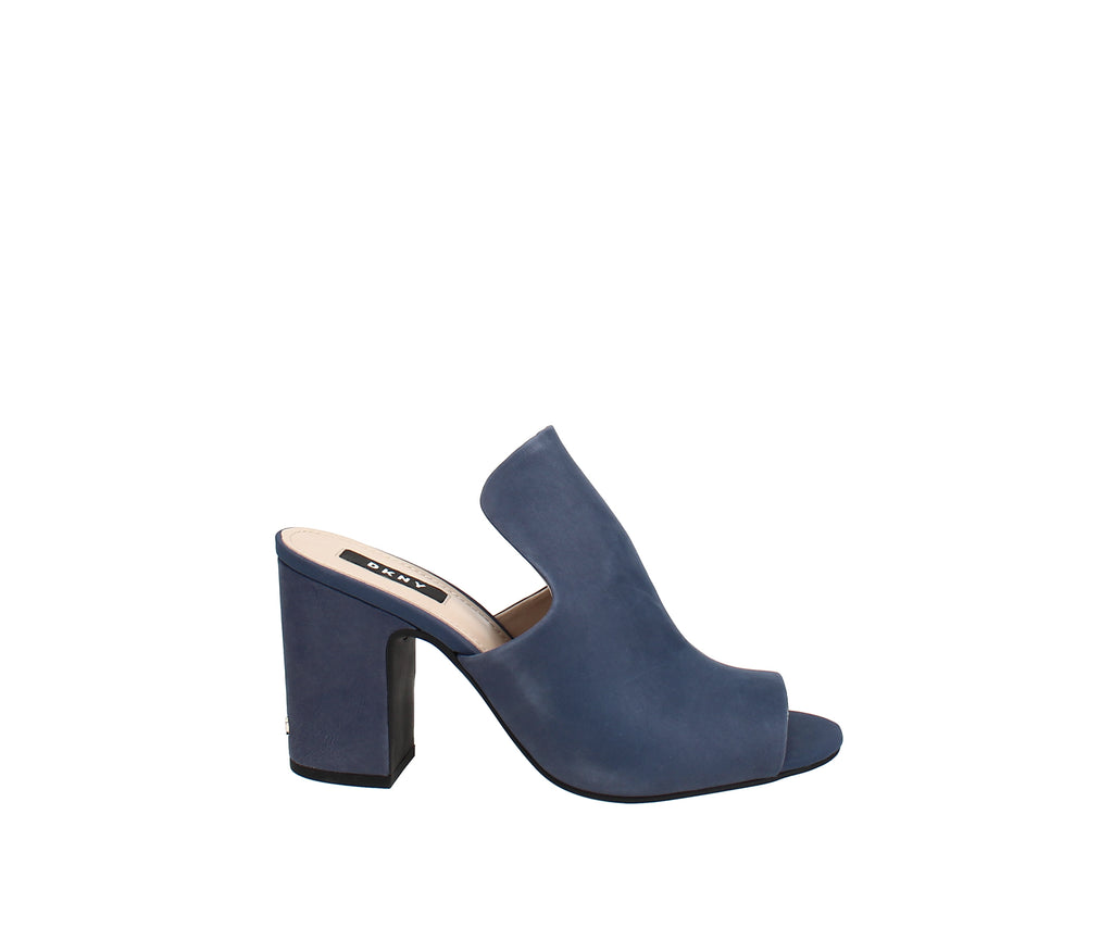 Yieldings Discount Shoes Store's Hester Mules by DKNY in Azure