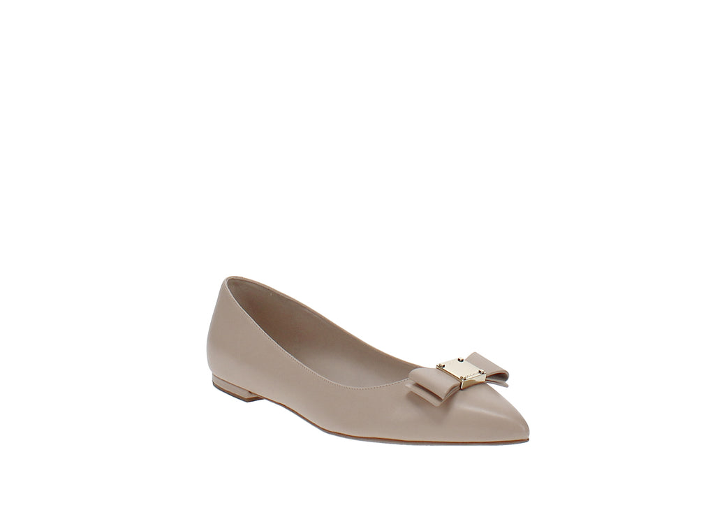 Yieldings Discount Shoes Store's Tali Bow Skimmers by Cole Haan in Nude Leather