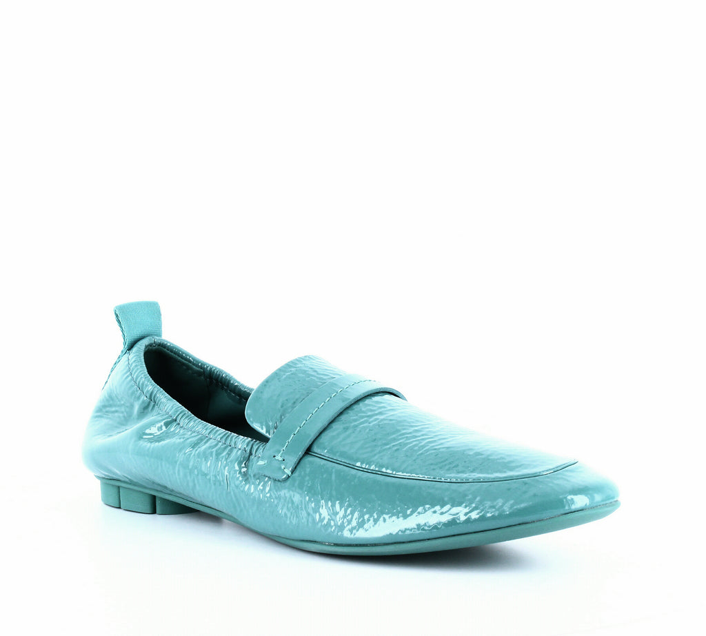 Yieldings Discount Shoes Store's Lipari Patent Leather Loafers by Salvatore Ferragamo in Jade