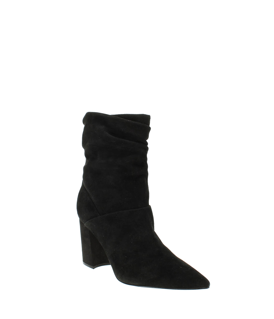 Yieldings Discount Shoes Store's Cames Slouch Booties by Nine West in Black Suede