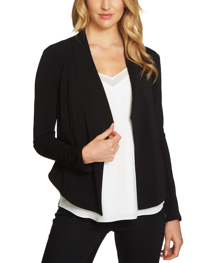 Yieldings Discount Clothing Store's Open Front Blazer by 1.State in Rich Black