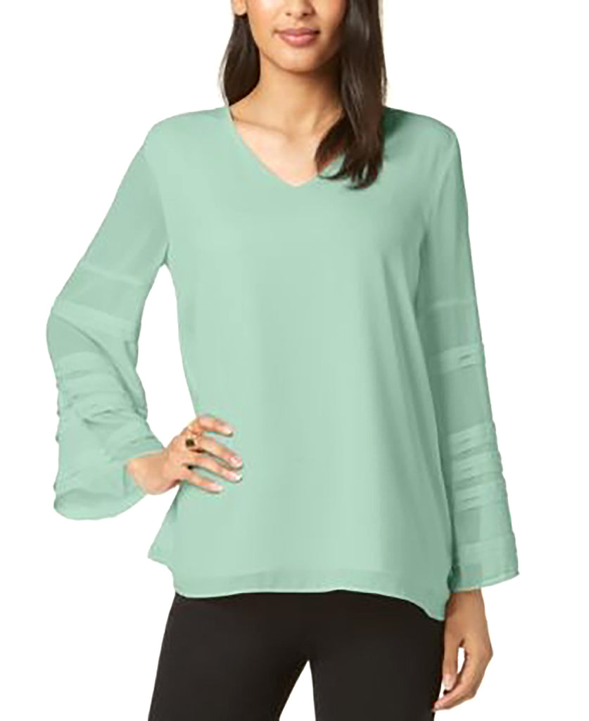Yieldings Discount Clothing Store's Solid Layered-Sleeve Top by Alfani in Quiet Mind