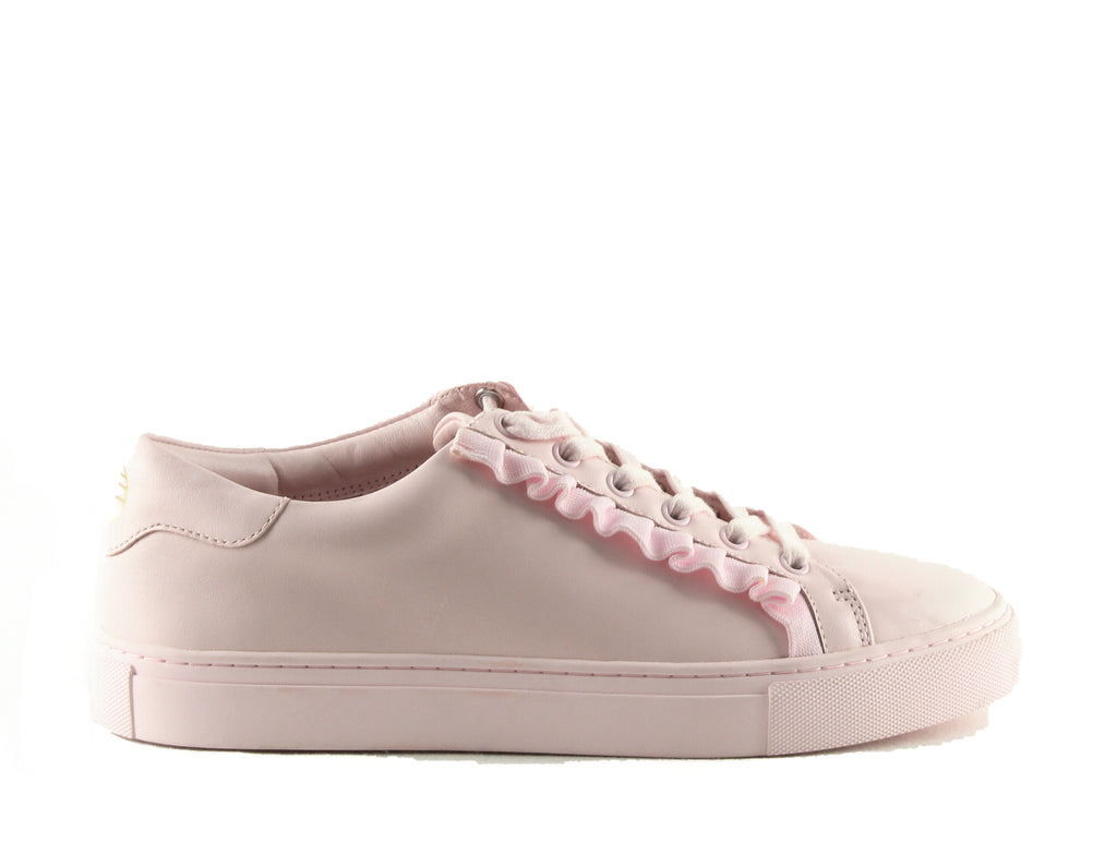 Yieldings Discount Shoes Store's Ruffle Sneakers by Tory Sport in Cotton Pink