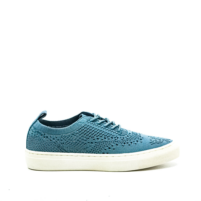 Yieldings Discount Shoes Store's Dionne Knit Fabric Slip-Ons by Seven Dials in Light Blue