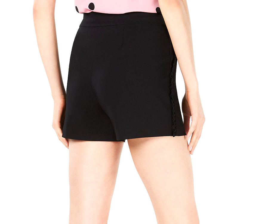 Yieldings Discount Clothing Store's Midnight Dots Ruffle Sided Shorts by Bar III in Deep Black