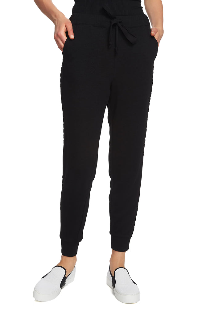 Yieldings Discount Clothing Store's Cozy Knit High Waist Jogger Pants by 1.State in Rich Black