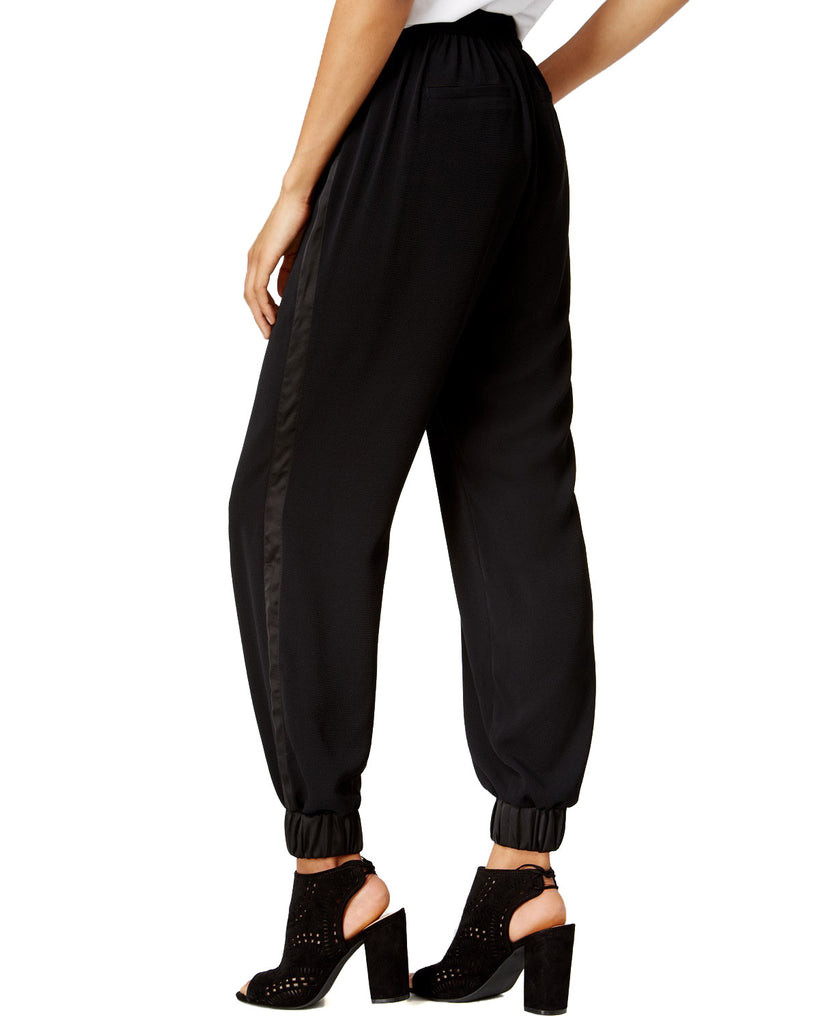 Yieldings Discount Clothing Store's Core Fashion Drawstring Jogger Pants by Bar III in Deep Black