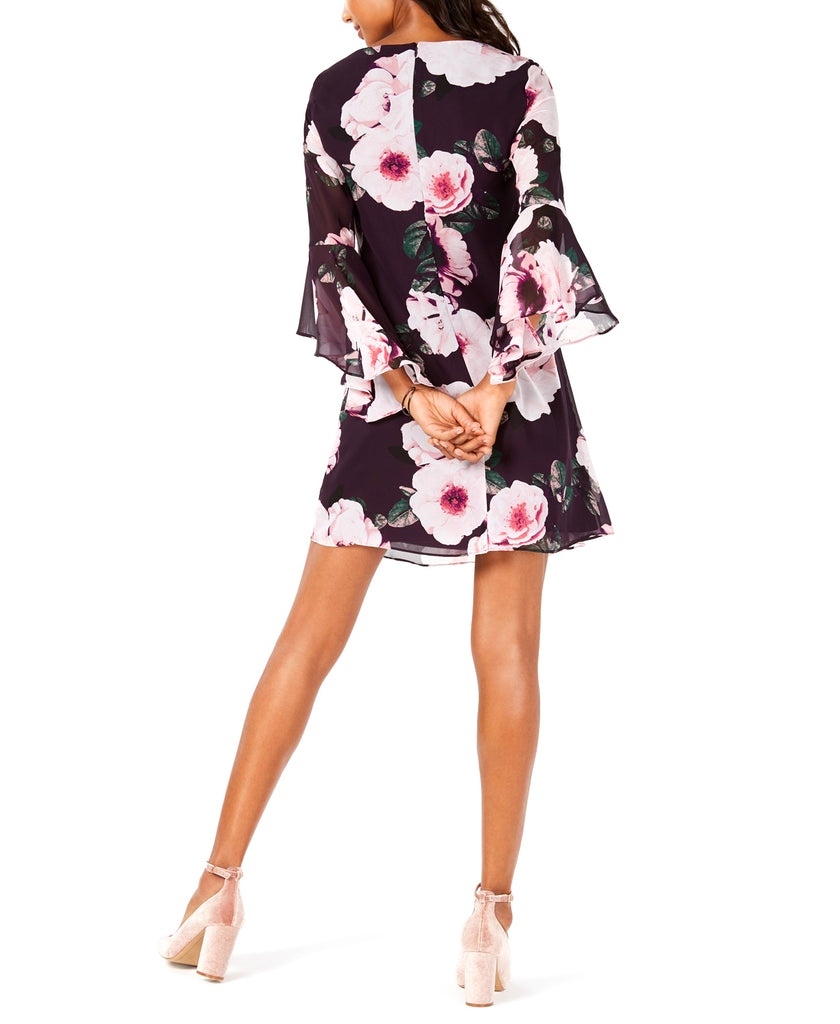 Nine West | Floral Bell-Sleeve Shift Dress