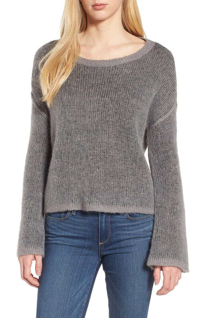 Yieldings Discount Clothing Store's Bell Sleeve Sweater by Splendid in Heather Slate