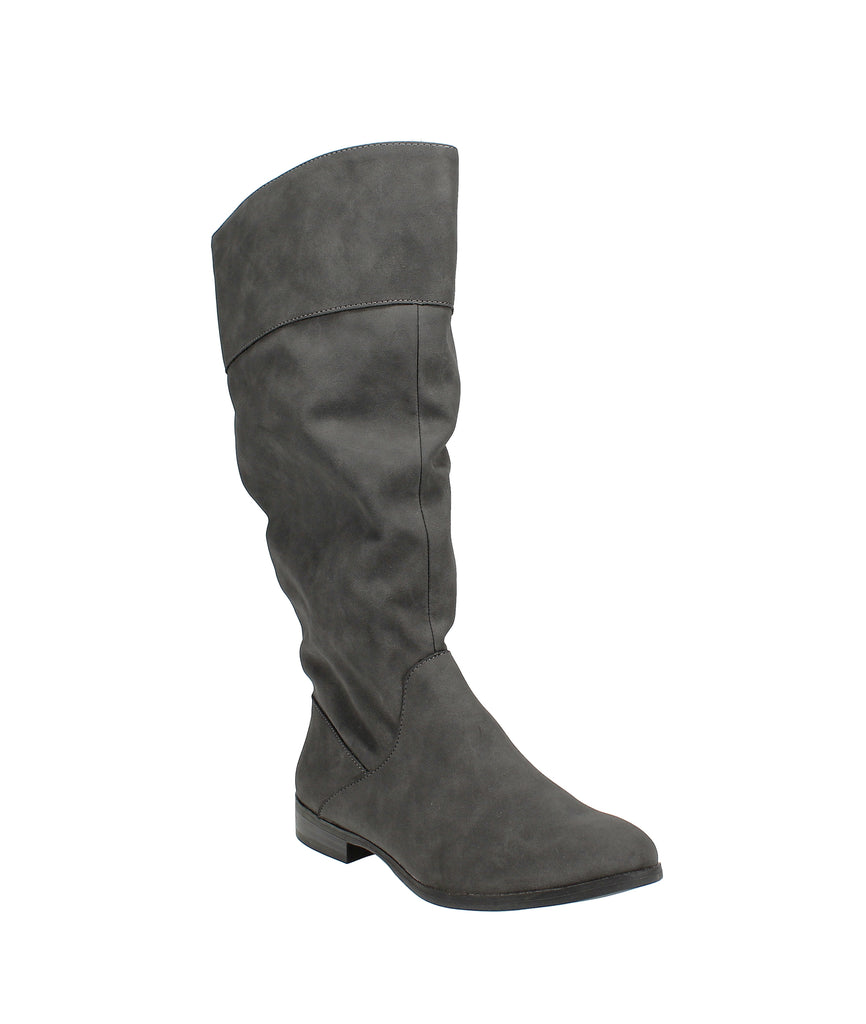 Yieldings Discount Shoes Store's Kelimae Scrunched Boots by Style & Co in Grey