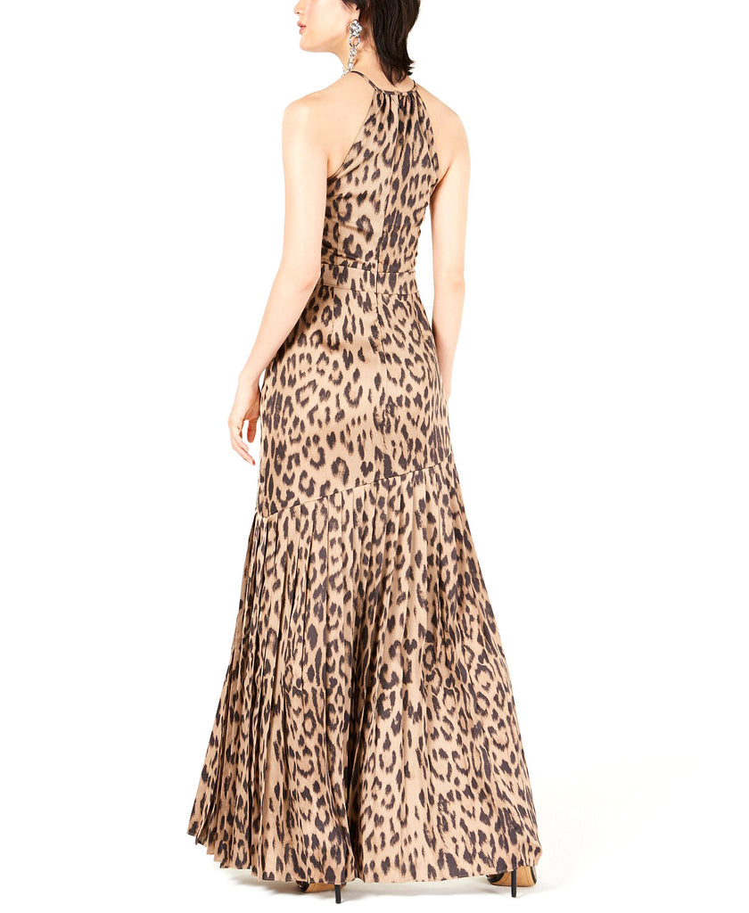 Bar III | A-Line Animal Printed Halter Dress