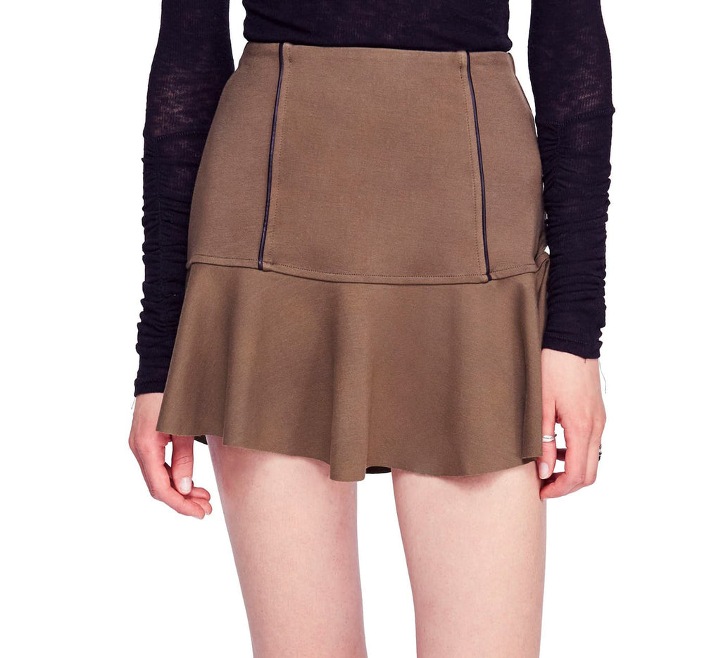 Yieldings Discount Clothing Store's Highlands Miniskirt by Free People in Army