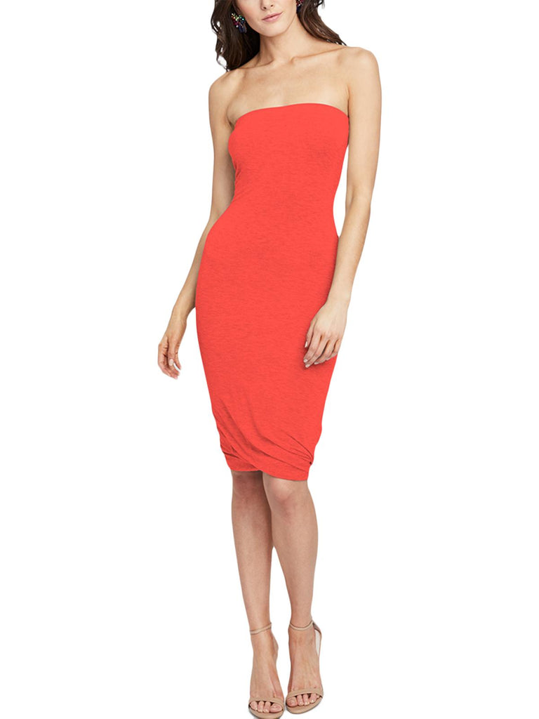 Yieldings Discount Clothing Store's Twisted Tube Dress by RACHEL Rachel Roy in Radiant Red
