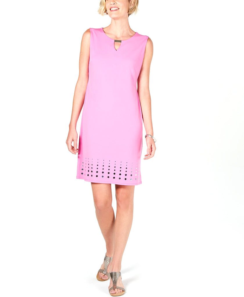 Yieldings Discount Clothing Store's Mirror-Hem Sheath Dress by JM Collection in Peony Bloom