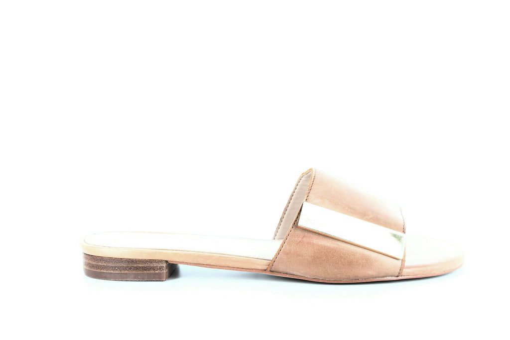 Yieldings Discount Shoes Store's Aladoclya Slide Sandals by Aldo in Cognac
