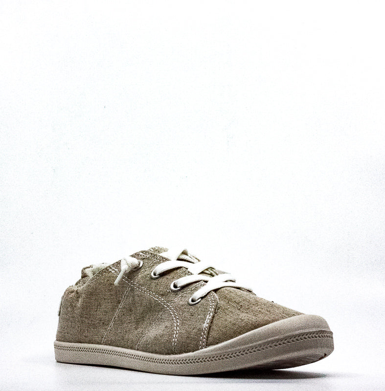 Yieldings Discount Shoes Store's Brooke Canvas Sneakers by Material Girl in Sand