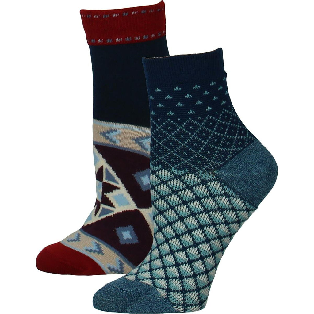 Yieldings Discount Clothing Store's Patterrn Ankle Socks by Free People in Navy