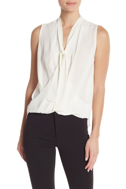 RACHEL Rachel Roy | Beckett Solid Tie-Neck Blouse