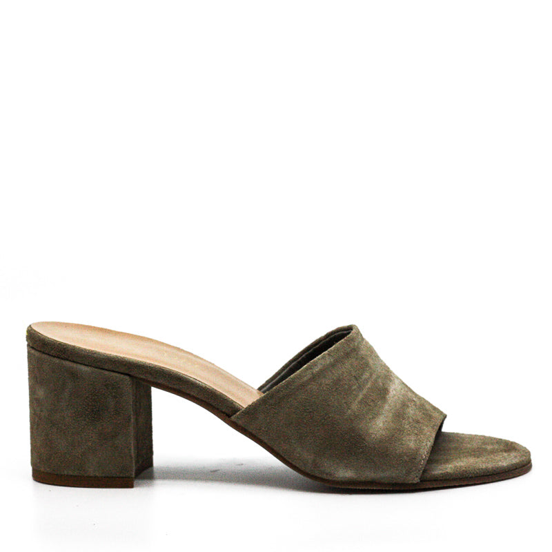 Yieldings Discount Shoes Store's Mel-Italy Block Heel Sandals by Bella Vita in Taupe