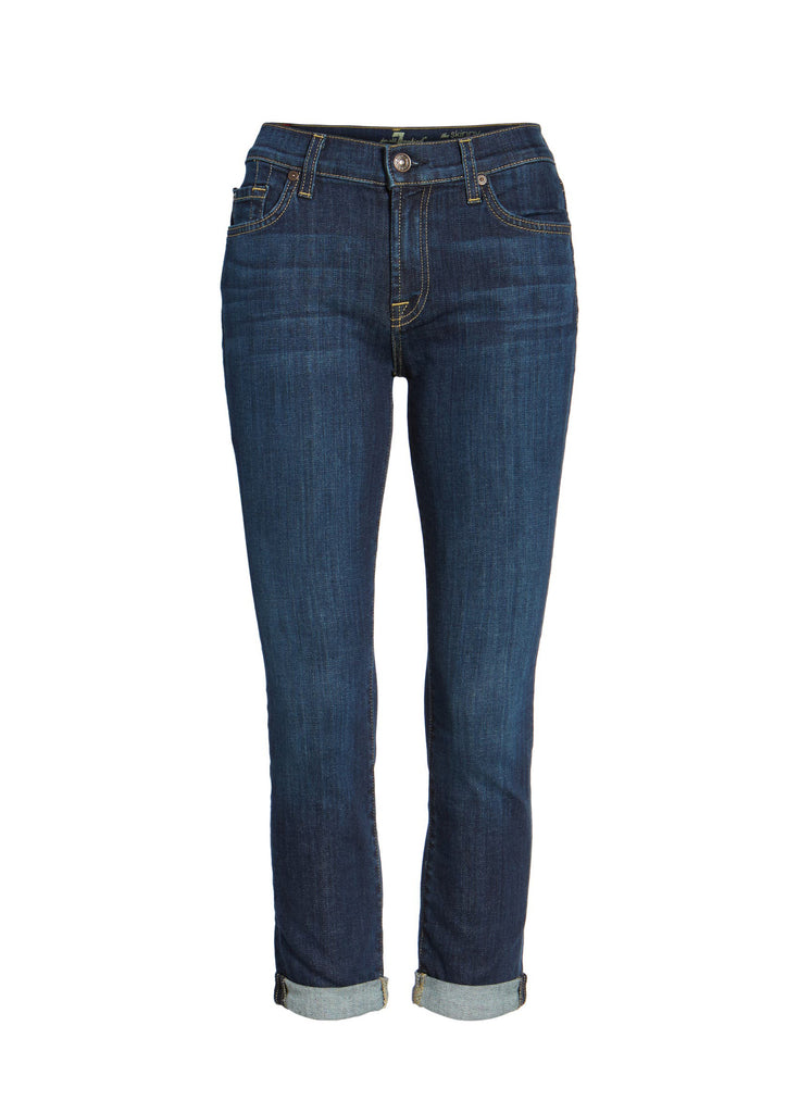 Yieldings Discount Clothing Store's Crop Skinny Jeans by 7 For All Mankind in Nouveau New York Dark