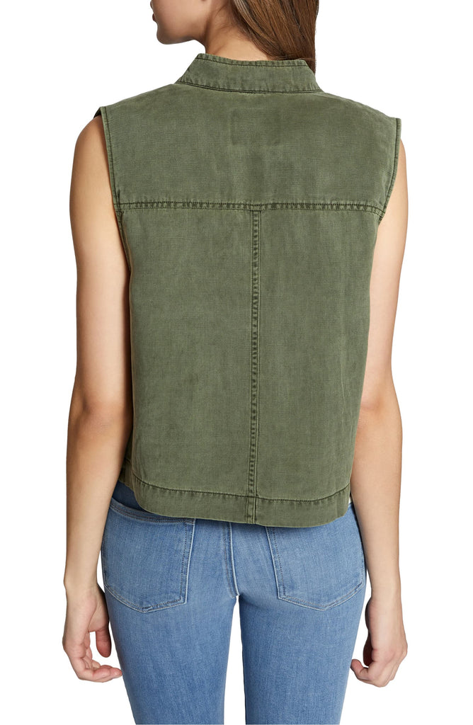 Yieldings Discount Clothing Store's Trecker Utility Vest by Sanctuary in Cadet