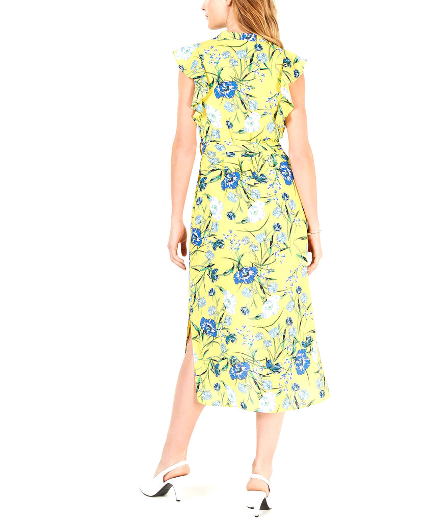 Maison Jules | Printed Flutter-Sleeve Midi Dress