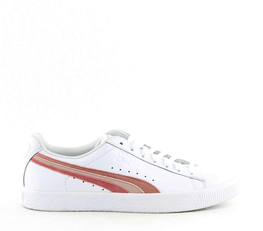 Yieldings Discount Shoes Store's Clyde L VeIFS Sneakers by Puma in White/Bridal Rose