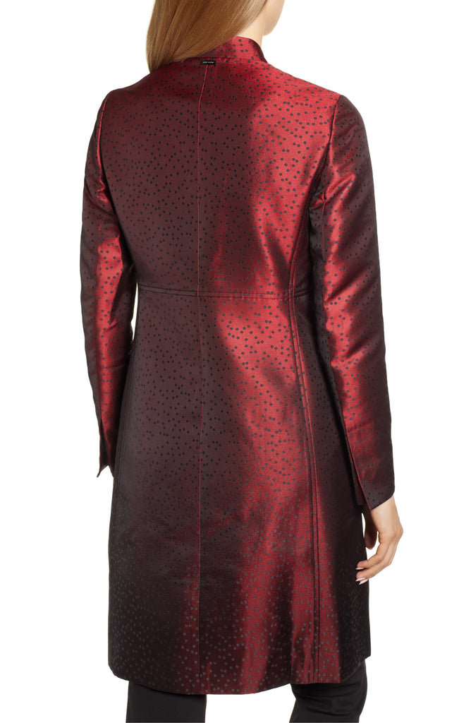 Yieldings Discount Clothing Store's Camille Dot Topper Jacket by Anne Klein in Wine