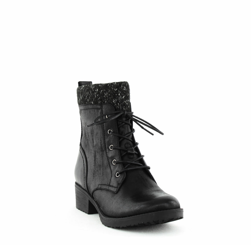 Yieldings Discount Shoes Store's Onnabeth Block Heel Booties by Baretraps in Black