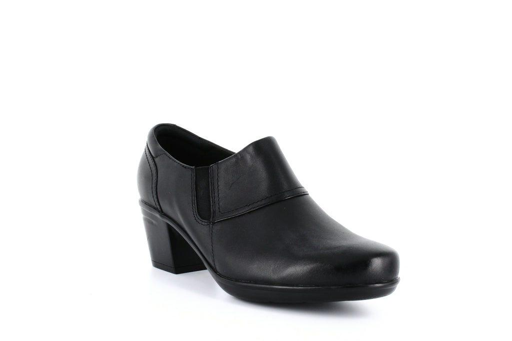 Yieldings Discount Shoes Store's Emslie Craft Shooties by Clarks in Black