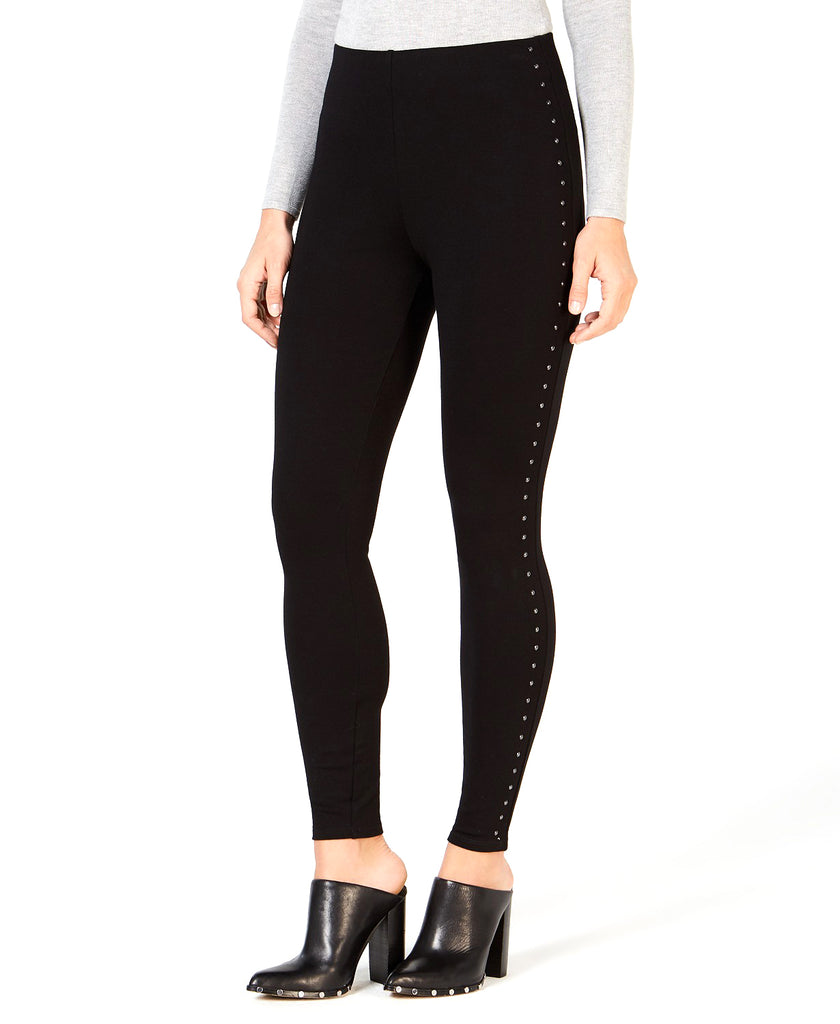 Yieldings Discount Clothing Store's Carlee Studded Leggings by Guess in Jet Black