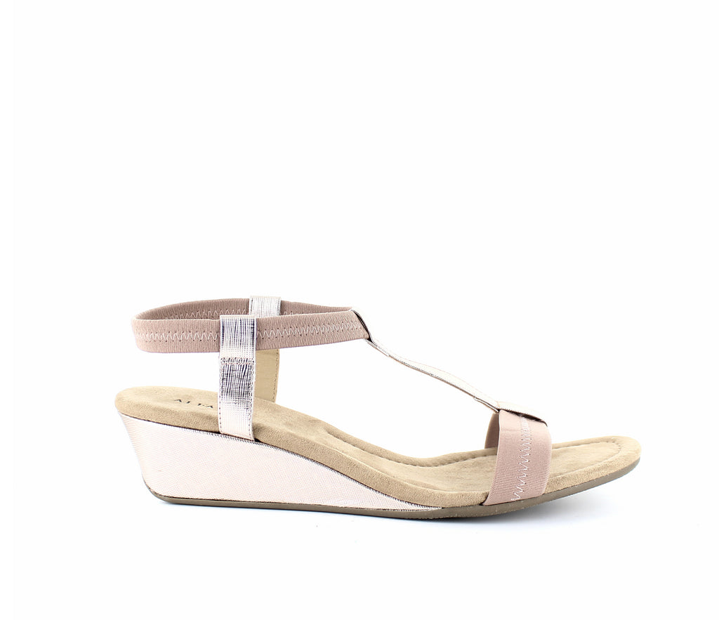Yieldings Discount Shoes Store's Voyage Step 'N Flex Wedge Sandals by Alfani in Quartz