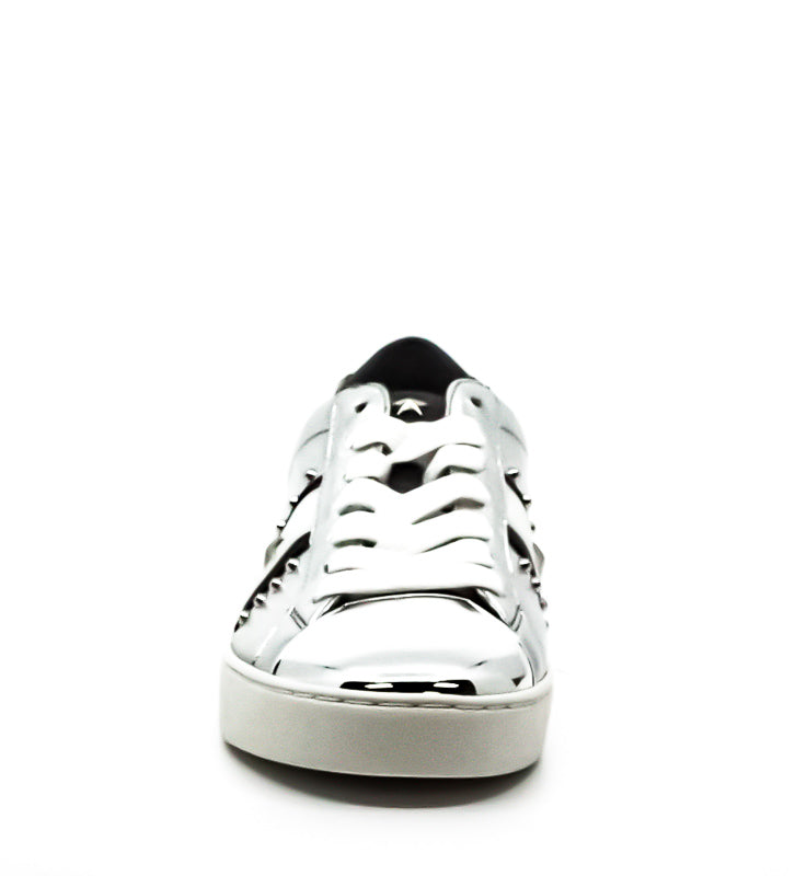 MICHAEL Michael Kors | Frankie Metallic Leather Stripe Sneakers